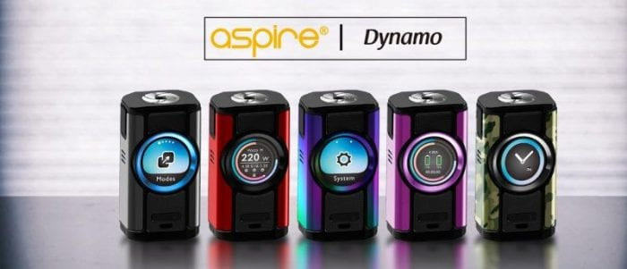 aspire dynamo colours