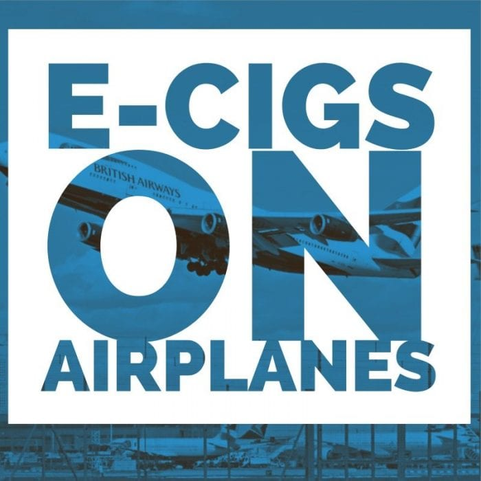 ecigarettes on airplanes