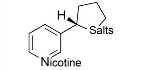 molecule diagram of nicotine salt