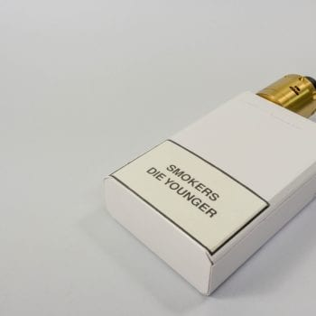 cigarette pack with warning